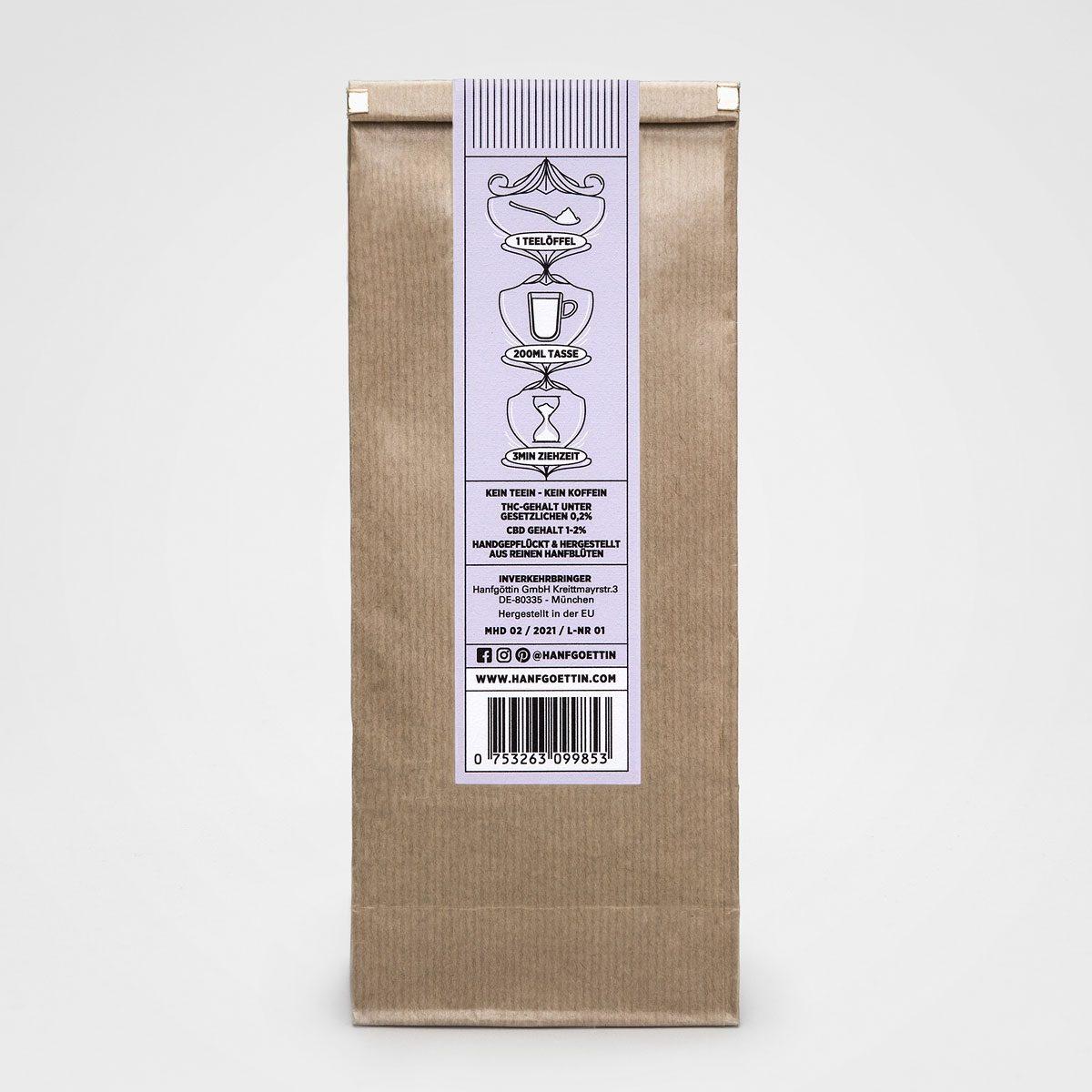 Verbene Tee Hanfmischung mit CBD HANFGÖTTIN